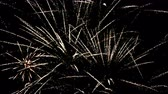 Detail of fireworks, explosions and golden sparks.