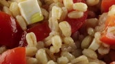 fast food : Pearl barley with chopped tomatoes and cheeses