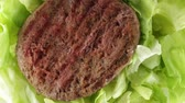 beef burger : Hamburger with salad Stock Footage