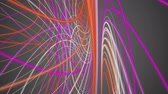 ribbon : Fantastic video animation with stripe wave object in motion, loop HD 1080p Stock Footage