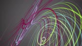meditation : Fantastic video animation with stripe wave object in motion, loop HD 1080p Stock Footage