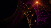 purple : Futuristic video animation with particle stripe object and light in motion, loop HD 1080p