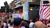 Christopher Street Day 2018 in Stuttgart, Deutschland Stock Footage