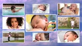 suckling : children collage Stock Footage