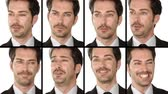 motivator : Businessmans facial expressions collage