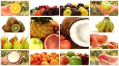 kiwi : close up of various fruits, montage