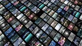 fordulat : Animated video wall, diagonally. Loop-able 4K