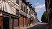 Medieval street in Cormeilles, Normandy France