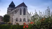 catholic : Old church at Pont LEveque. A little city in Normandy. Stock Footage
