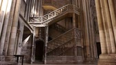 catholic church : Cathedral staircase in Rouen, Normandy France, TILT