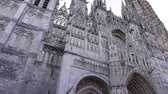 normandia : Cathedral front perspective in Rouen, Normandy France, PAN