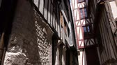 french street : Alley in Rouen, Normandy France, TILT
