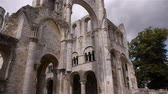 normandiya : Ruined exterior of abbey or Jumieges, Normandy France, TILT