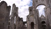 catholic : Ruined exterior of abbey or Jumieges, Normandy France, PAN