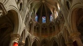 Cathedral interior at Lisieux, Normandy France, PAN