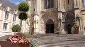 normandia : Plants and cathedral exterior at Lisieux, Normandy France