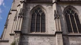 normandia : Side exterior of church at Lisieux, Normandy France, TILT