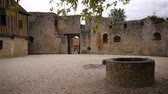 normandia : Castle Crevecoeur and Auge courtyard in Normandy France