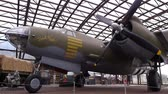 private museum : UTAH BEACH, FRANCE - AUGUST 15. 2018: Bomber airplane at Utah Beach D-day museum Stock Footage