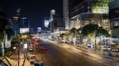 Bangkok at night timelapse, Transportation, Thailand Stock mozgókép