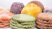 macaroons : view of moldy macaroons, rotating