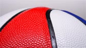 palline colorate : the upper part of a multi-color basketball rotating
