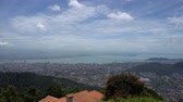 Panorama of Georgetown on Penang hill, Malaysia 動画素材