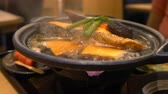 japon : Boiling japanese soup pot