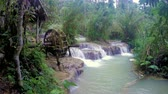 ラオス : Wooden Wheel at Kuang Si Waterfall 動画素材