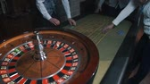 kumarbaz : Betting chips - Casino Roulette People playing Roulette in a Casino Stok Video