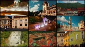 piata : A 4k video wall (3x3x3) with famous Romanian landmarks in major towns, including Bucharest, Sinaia, Brasov, Sibiu, Sighisoara and Cluj