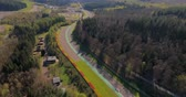 Stavelot, Belgium - June 10, 2018: Aerial view of Spa-Francorchamps Circuit, motor-racing circuit is the venue of the Formula One Belgian Grand Prix, and of the Spa 24 Hours