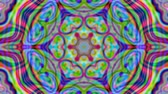 dalgalı : Colorful kaleidoscopic iridescent beams. Geometric ornament. Live wallpaper background. TV show intro, blog opener, psychedelic hypnotic rhythm, holiday, event, music clip, vlog presentation footage. Stok Video