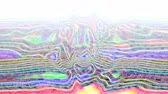 rainbow rays : Abstract holographic blurred wave. Iridescent ripple surface for tv show intro, party, event, clubs, music clips, blog opener, vlog presentation or advertising footage. Place for text, title, caption