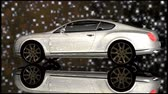 luxo : White luxury car rotates showing himself under the starry sky