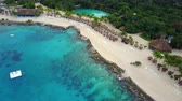 bouda : Aerial view of beach resort in Cozumel Mexico