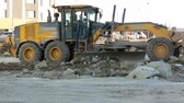 plac budowy : Grader working at construction site