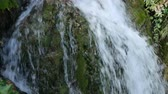para baixo : Small waterfall in moss