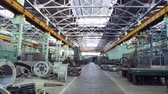 işler : Machine shop of machine works indoors room Stok Video