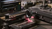 on line : At paper manufacturing factory Stock Footage