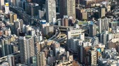 interseção : time lapse of the Metropolitan Expressway junction road and city, Tokyo, Japan
