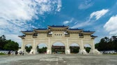 main entrance : time lapse of Liberty Square main gate of Chiang Kai-Shek Memorial Hall in Taipei, Taiwan