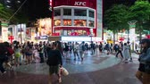 дорожный знак : Taipei, Taiwan- 11 June, 2019: time lapse of Crowd of people walking and shopping at Ximending street market at night in Taipei, Taiwan. Ximending is the famous fashion, night Market and street food in Taipei. Стоковые видеозаписи