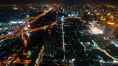 ring road : BANGKOK, THAILAND - 5 Dec 2019 : time lapse of Bangkok city downtown and expressway road traffic at night of Thailand , Cityscape