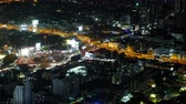 дорожный знак : BANGKOK, THAILAND - 5 Dec 2019 : aerial view of Victory monument in central transportation at night in Bangkok, Thailand