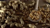 арахис : Close up with peanuts rotating.