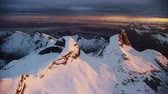 moody : The Norwegian National Mountains Stedind in the arctic Stock Footage