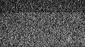 monocromático : Analog TV CRT kinescope noise. Texture – black & white color TV screen - no signal. Full HD loop, 1080p.