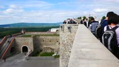 Словакия : Bratislava, Slovakia, tourists view the landscape from the castle