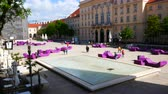 barok : Vienna, Austria, view of MuseumsQuartiers courtyard Wideo
